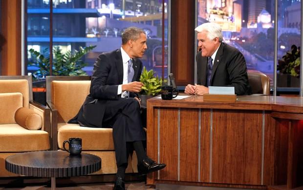 Obama no programa de Jay Leno: críticas aos países homofóbicos, como a Rússia (Foto: Agência Reuters)