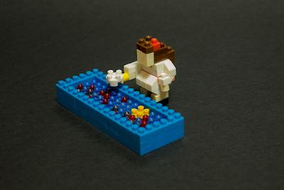 ナノブロックで金魚すくい