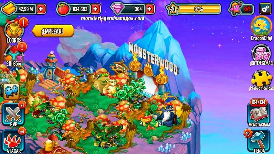 imagen del monsterwood de monster legends
