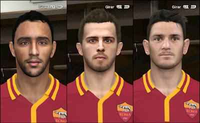 PES 2014 AS Roma Facepack #1 by godra94