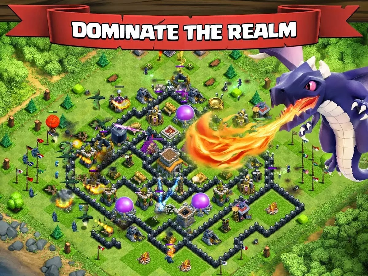 Clash of Clans 6.322 Mod APK ( Unlimited Gold Gems Dark Elixir ) Terbaru