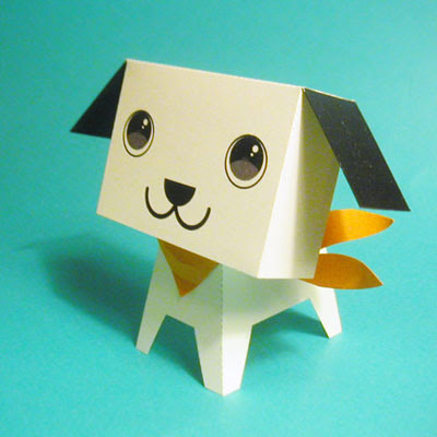 cute puppy papercraft