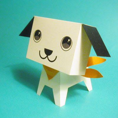 cute puppy papercraft