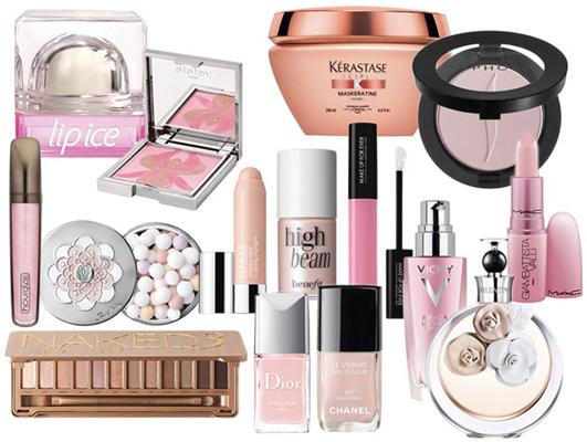 Pantone diversos tons de rosa quartzo para maquiagem verão 2016