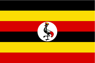The Ugandan flag