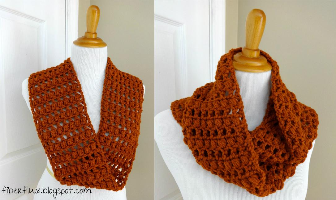 Crochet Patterns Infinity Scarf Free : Fiber Flux: Free Crochet Pattern...Ginger Snap Infinity Scarf!