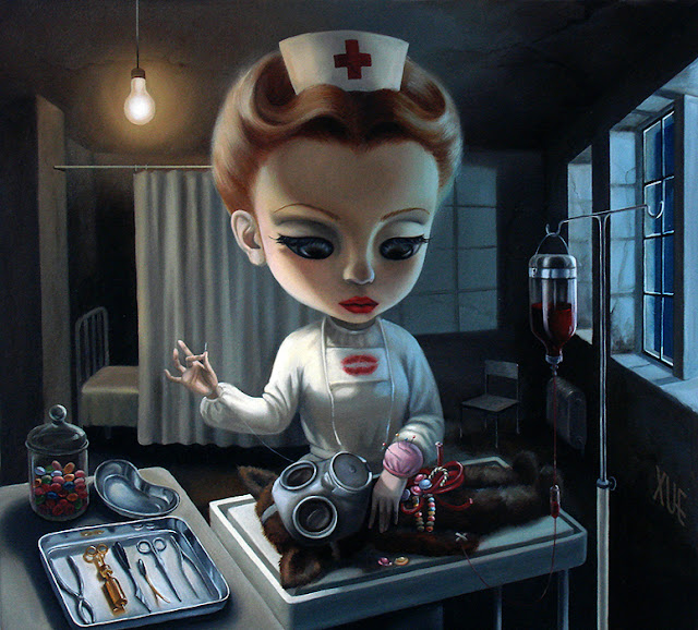 The Creepy Paintings Of Xue Wang