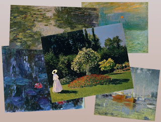 Combined images of public domain Monet art by SnaggleTooth 2012