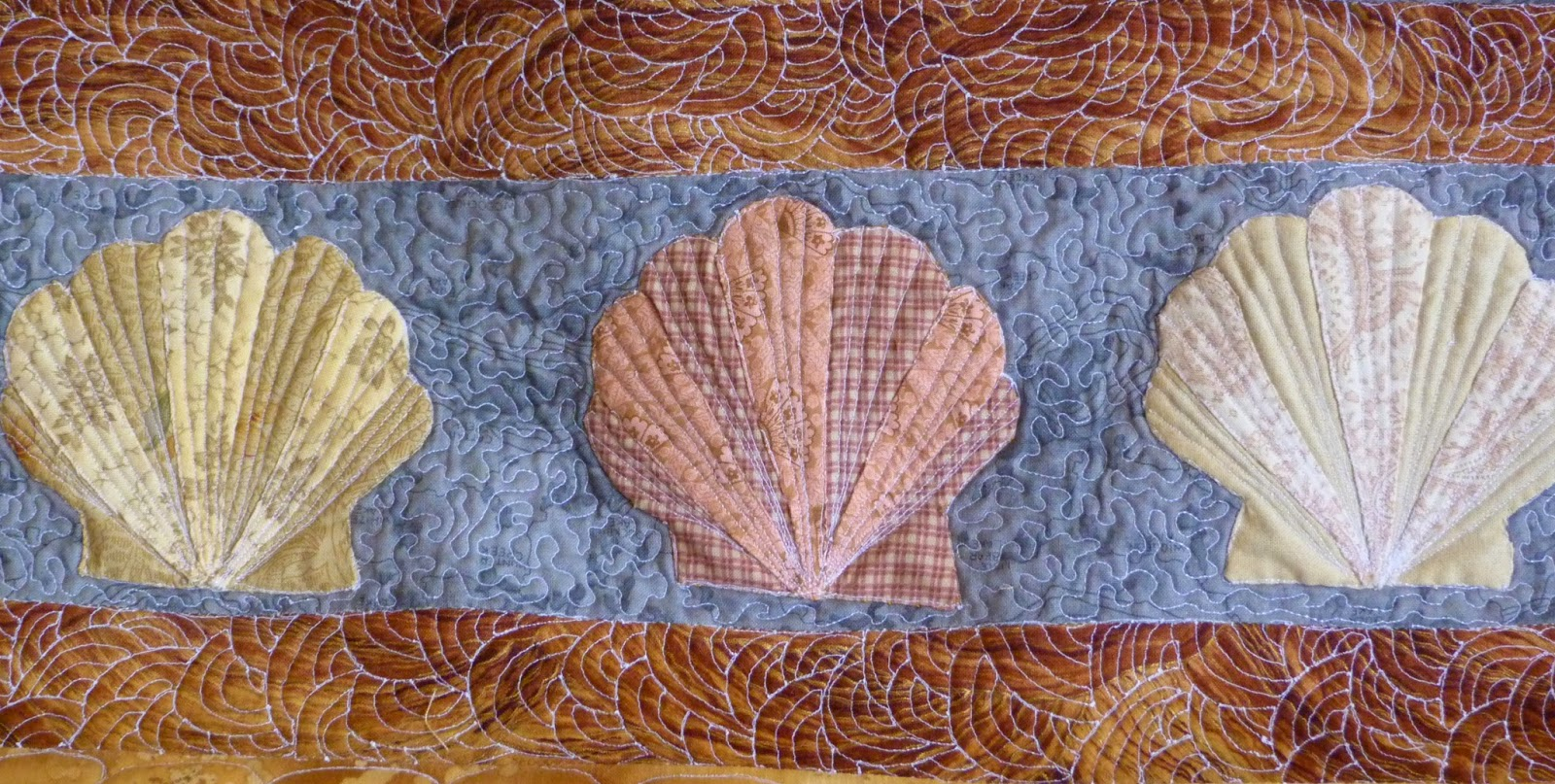 Quilted seashells