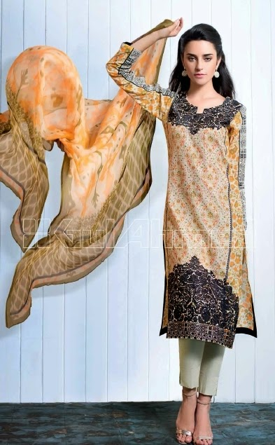 Gul Ahmed Midsummer Embroidered Chiffon-14