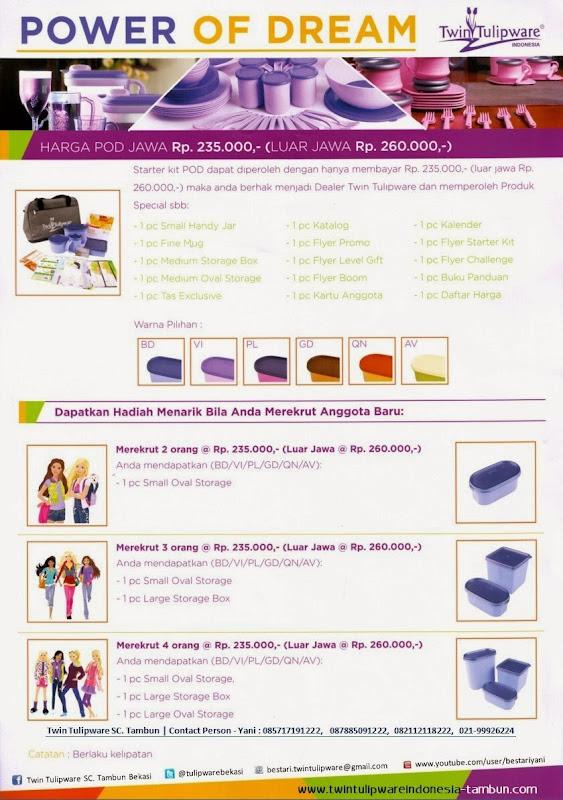 Paket Member Tulipware POD 2014, Kitbag, Starter Kit