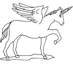 Unicorns With Wings Coloring Pages