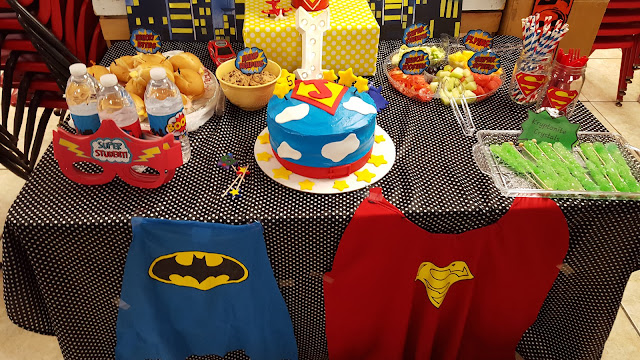 diy superhero table food ideas, superhero party decorations, eventsojudith