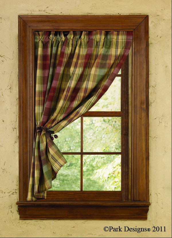 Tin Bin Folkways: Homespun Country Curtains