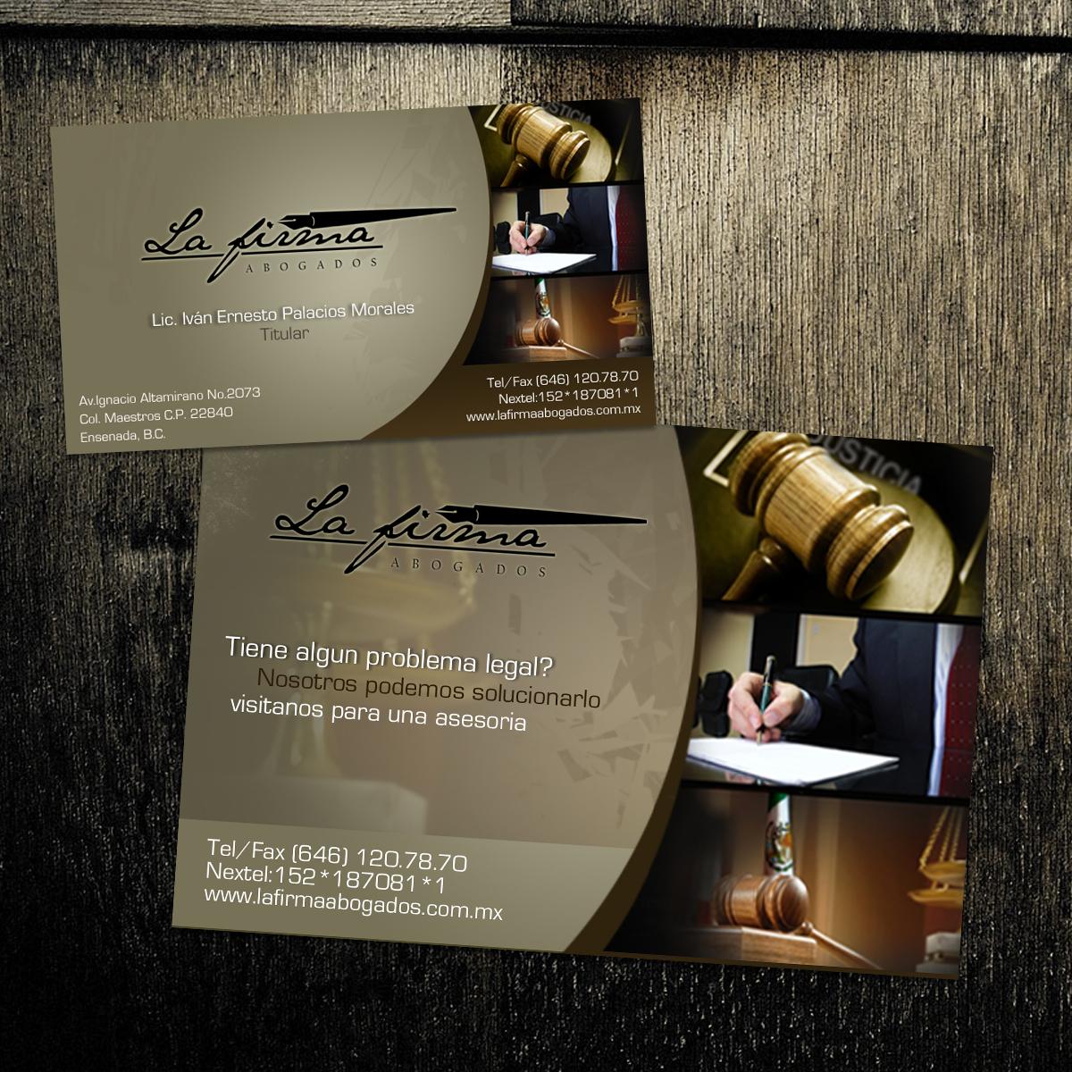 La Firma abogados imagen corporativa ( tarjetas y postales)