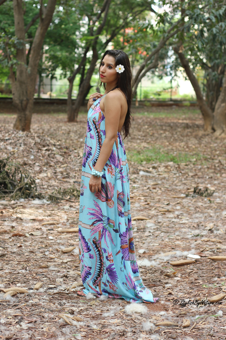 Tropical print, MAxi Dress, Beaded Flats, Colorful Maxi, Affordable Dress Women