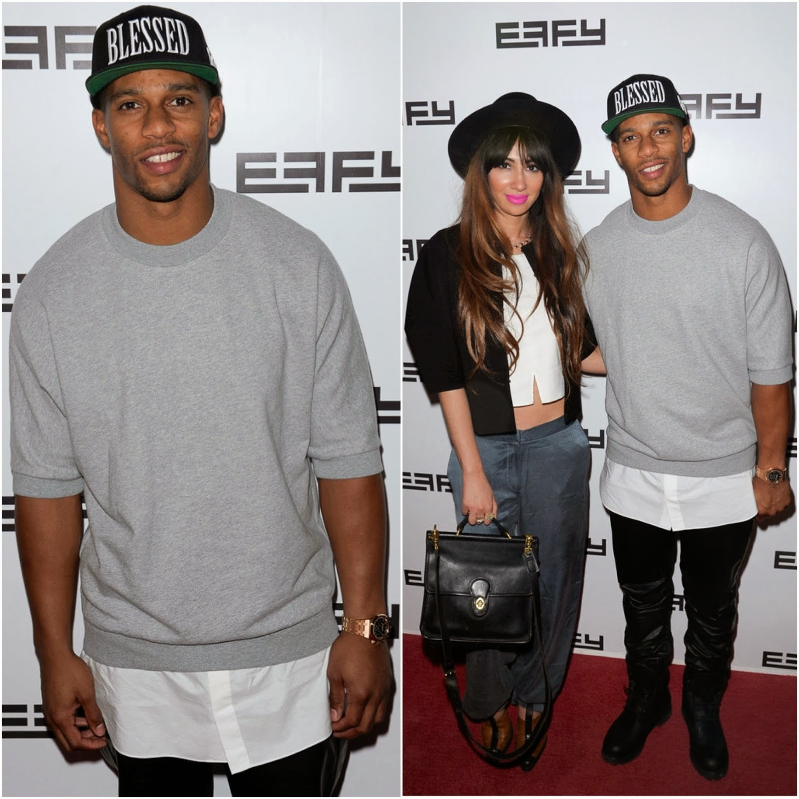 Victor Cruz in 3.1 Phillip Lim - Effy Jewelry's 35th anniversary