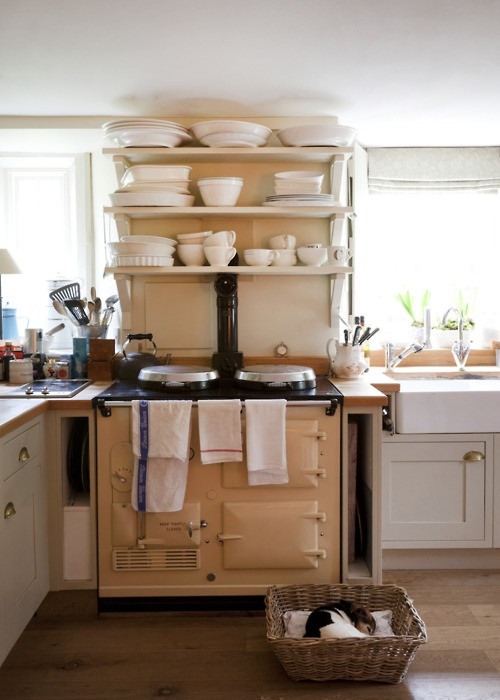 Country kitchens with aga cookers content in a cottage for Kitchen designs with aga cookers