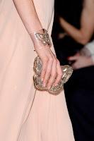 Вечерна чантичка пеперуда с камъни на Valentino