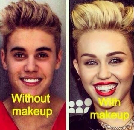 Con y sin maquillaje