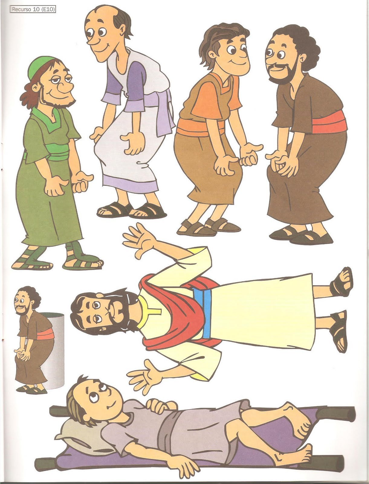 Escuela dominical jesus sana a un paralitico imagui for Jesus heals paralyzed man craft
