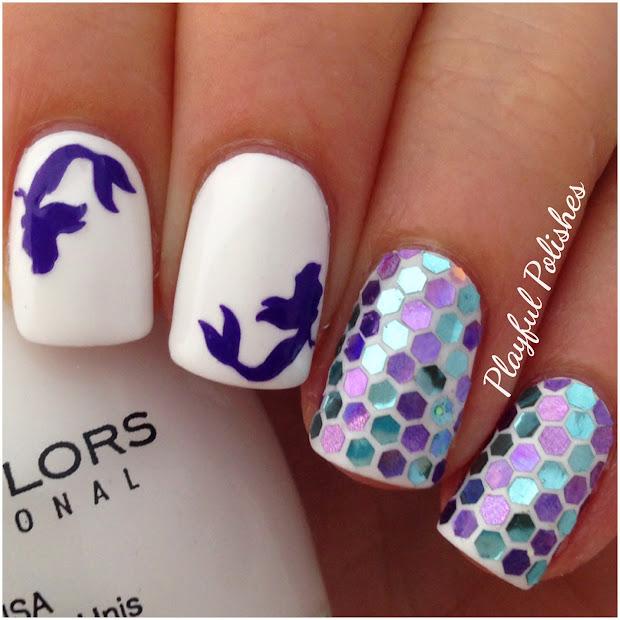 playful polishes mermaid nail