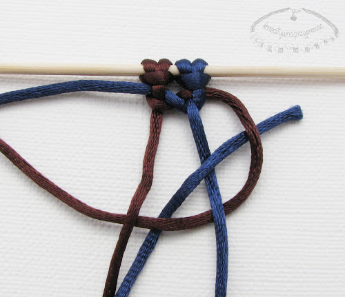 Makrama węzeł figowy 8