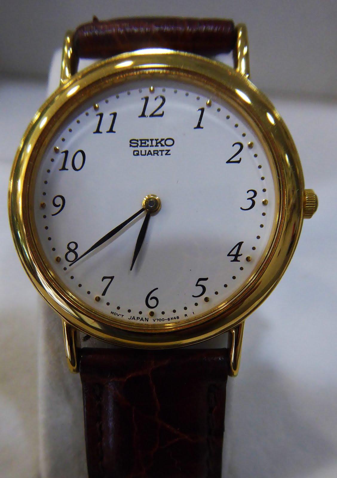 Para ver bien la hora. Elegante reloj Seiko de señora