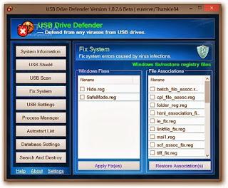 برنامج USB drive defender للحماية الفلاشات من فيروسات