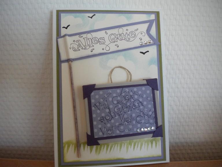 Basteln Mit Lilli Karte Zum Abschied Selberbasteln