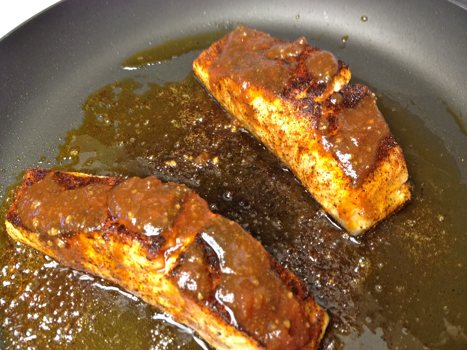 6) Finishing Cooking The Salmon By Placing The Pan In The Preheated Oven  For 5 To 7 Minutes, Or Until Your Desired Doneness Is Reached