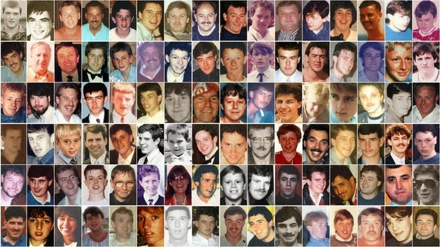 Hillsborough Disaster Dead bodies