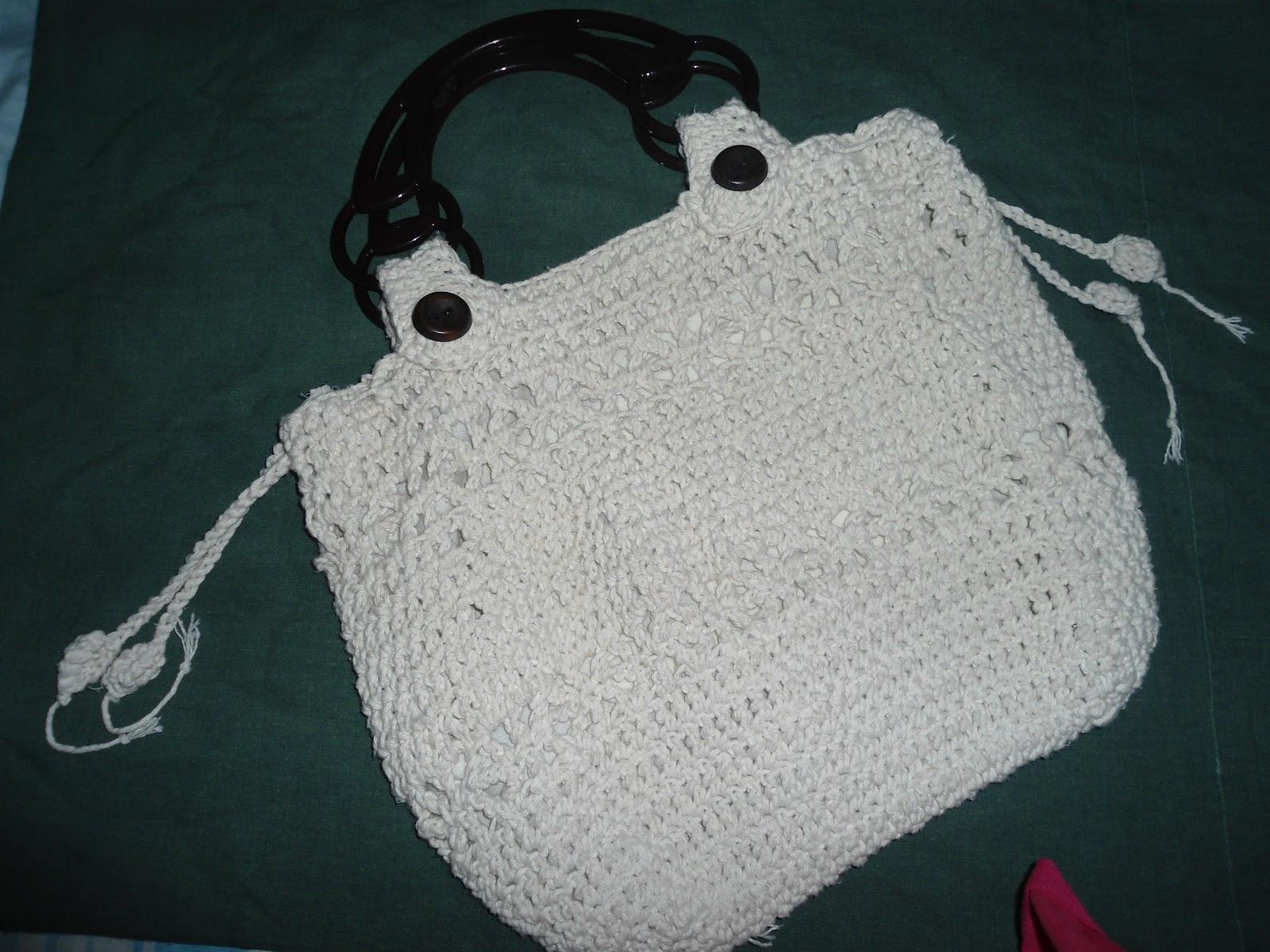 Bolsa De Mão Em Crochet : Bolsa de crochet em barbante emagrecer feliz