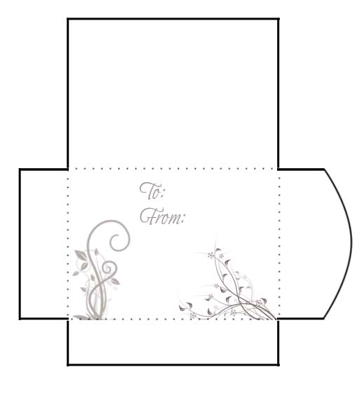 gift card envelope floral print and cut gift card envelope