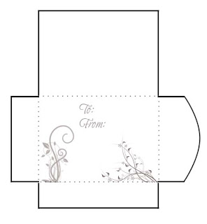 Swirls Print and Cut Gift Card Envelope