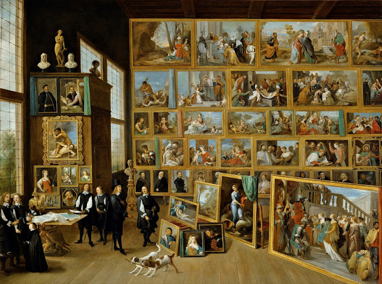 David Teniers the Younger - Archduke Leopold William in his Gallery at Brussels