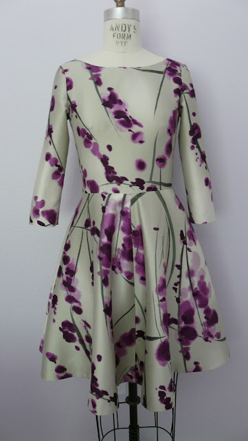 Oscar de la Renta Silk Mikado Dress