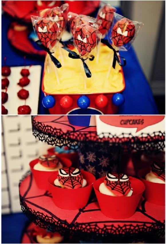 Party ideas a spiderman inspired super hero birthday party ideas