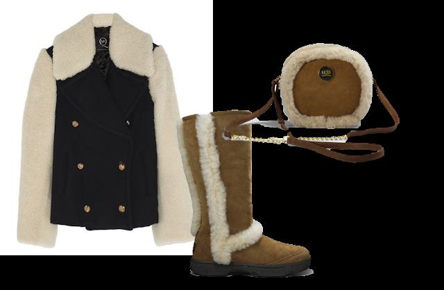 Alexander McQueen Coat fw13, Ugg Boots, Ugg Bag