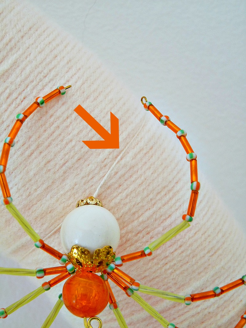 DIY Beaded Halloween Spider