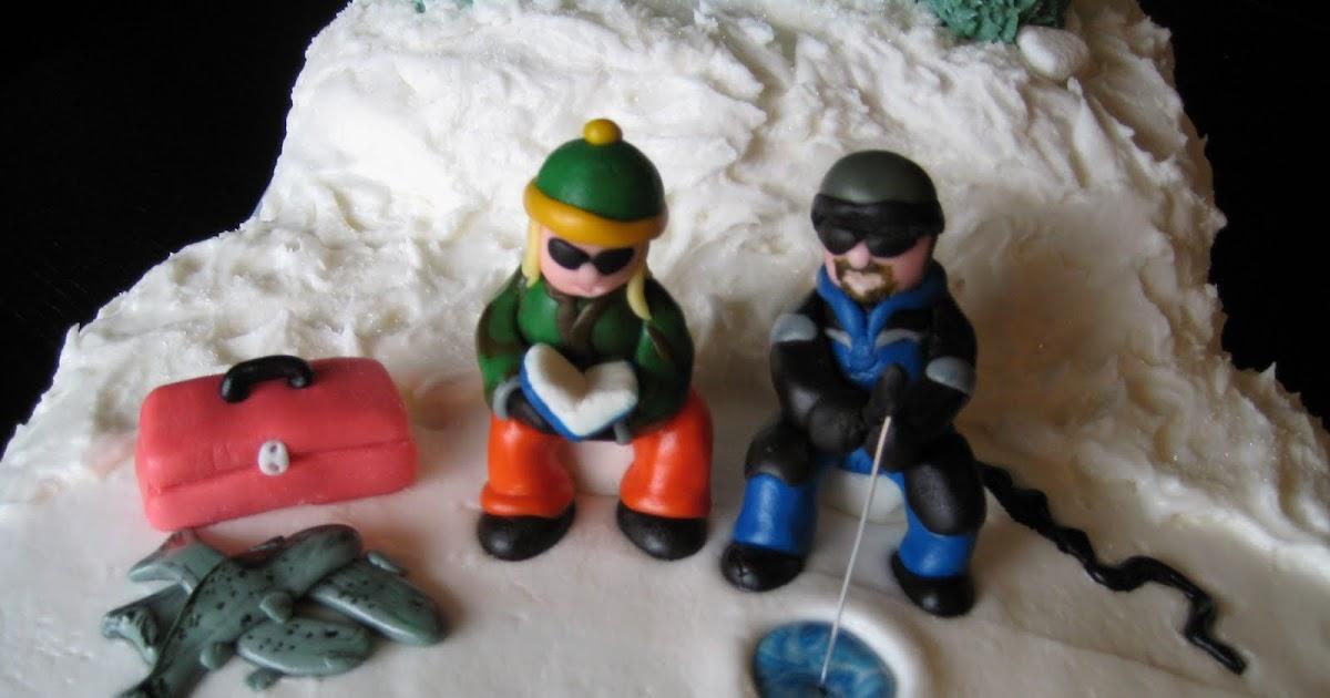 Custom Cakes By Julie Ice Fishing Cake