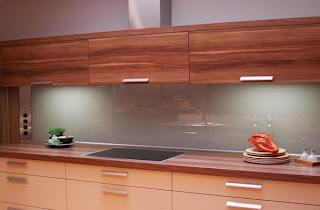 Keuken achterwand glas