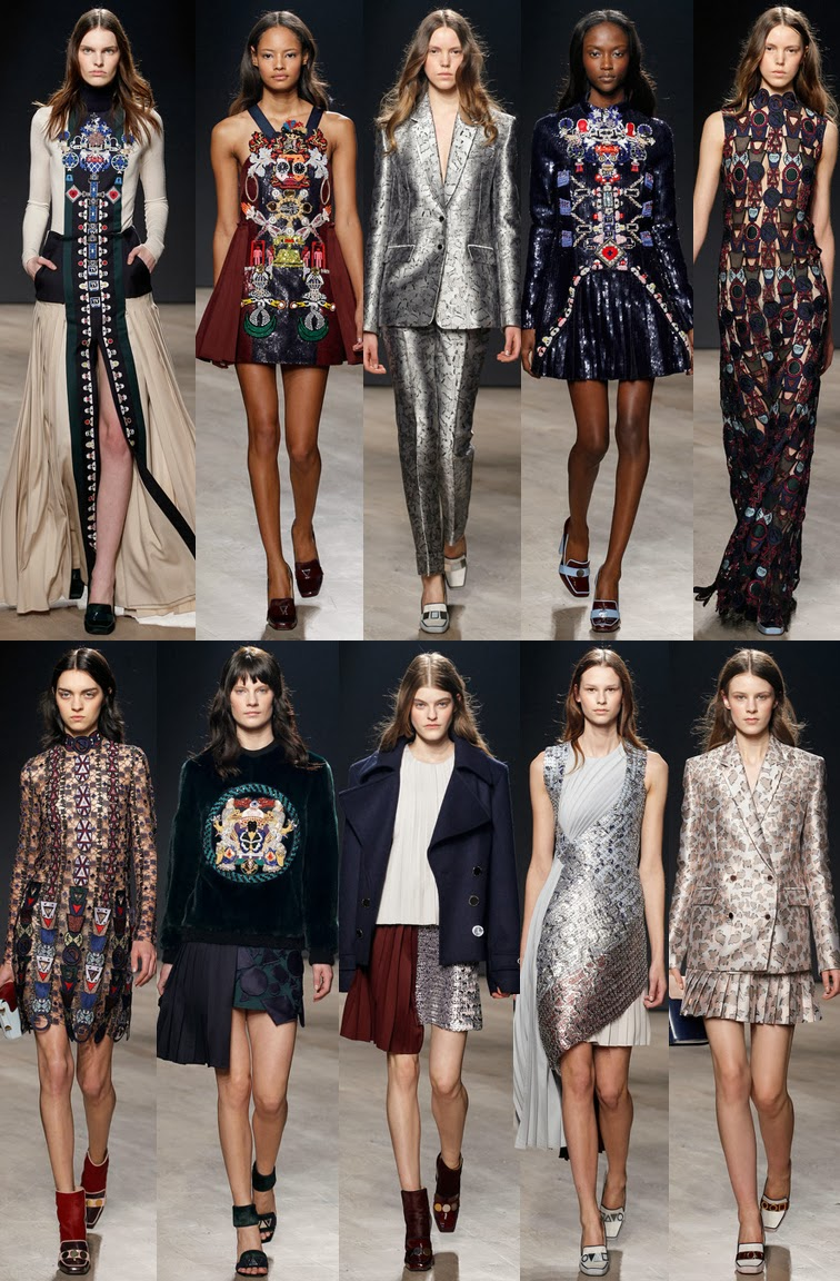 Mary Katrantzou fall winter 2014 runway collection, FW14, AW14, London fashion week