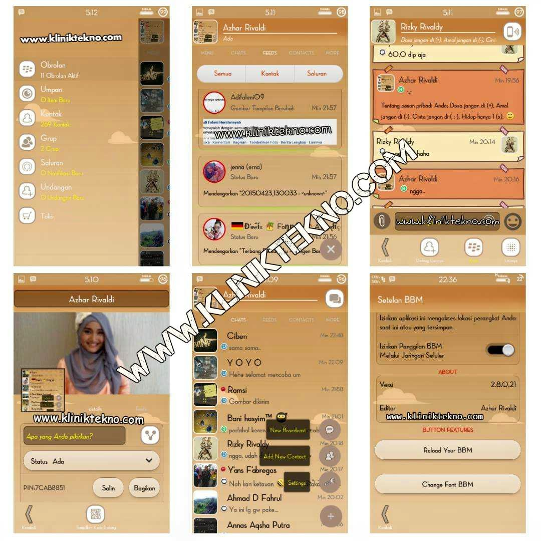 BBM Mod Simple Brown v2.8.0.21 by Azhar Rivaldi