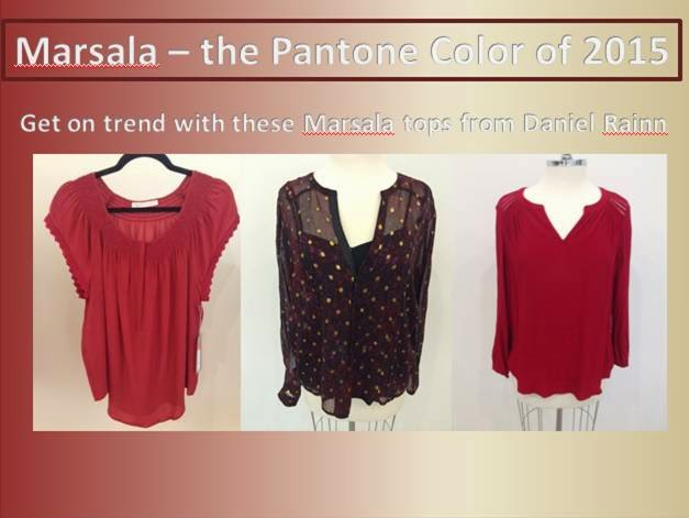 Marsala Color Trend 2015 Fashion