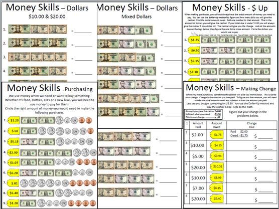 Empowered By THEM Money Skills – Money Skills Worksheets