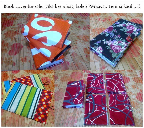 Handmade fabric novel cover for sale..