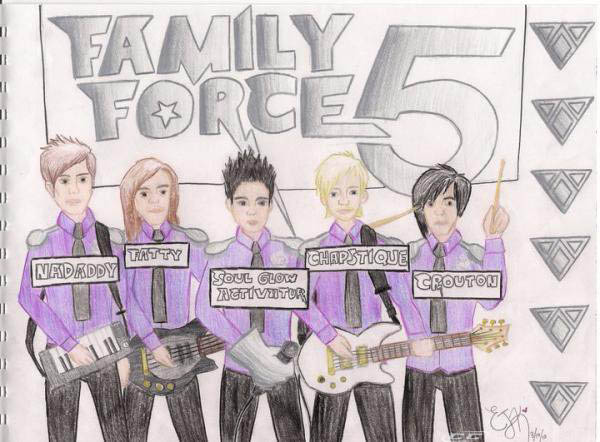 Family Force 5 - III.V 2012 Band Members
