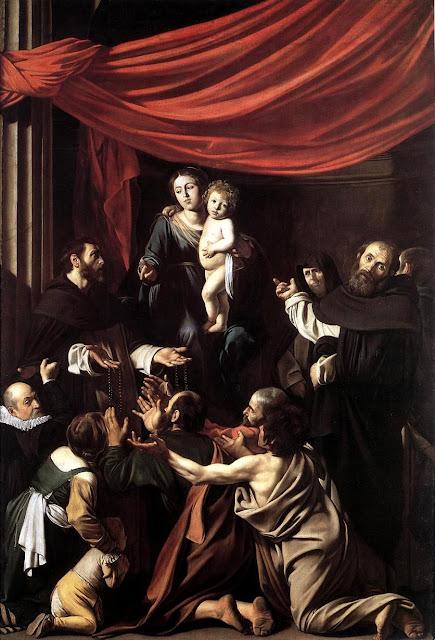 caravaggio madonna del rosario