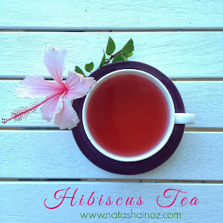 Tea, Tea Time with Natasha in Oz, hibiscus tea, blood pressure, hypertension, Hibiscus Iced Tea, health and wellbeing, Natasha In Oz, herbal tea, tisane